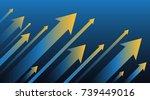 financial arrow graph | Shutterstock .eps vector #739449016