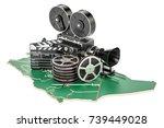 saudi arabia cinematography ... | Shutterstock . vector #739449028