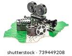 nigerian cinematography  film... | Shutterstock . vector #739449208