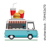 street fast food automobile.... | Shutterstock .eps vector #739452670