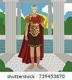 julius caesar great roman...   Shutterstock .eps vector #739453870