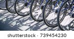bicycle rent public bicycles ... | Shutterstock . vector #739454230
