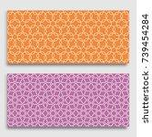 seamless horizontal borders... | Shutterstock .eps vector #739454284