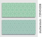seamless horizontal borders... | Shutterstock .eps vector #739454308