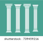 set of roman and greek classic... | Shutterstock .eps vector #739459216