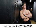 portrait of fitness model... | Shutterstock . vector #739460740