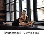 portrait of beautiful young... | Shutterstock . vector #739465468