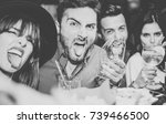 friends having fun drinking...   Shutterstock . vector #739466500