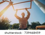 young athlete training and... | Shutterstock . vector #739468459