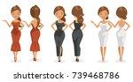 models beautiful woman. wearing ... | Shutterstock .eps vector #739468786
