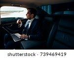 always available. handsome...   Shutterstock . vector #739469419