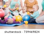 young women in mother and child ... | Shutterstock . vector #739469824