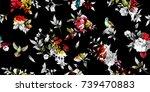 wide vintage seamless... | Shutterstock .eps vector #739470883
