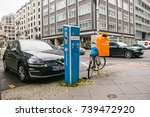 berlin  october 1  2017  the... | Shutterstock . vector #739472920