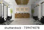interior of a hotel spa... | Shutterstock . vector #739474078