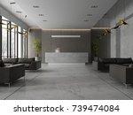 interior of a hotel spa... | Shutterstock . vector #739474084