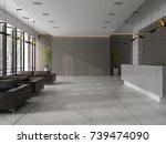 interior of a hotel spa... | Shutterstock . vector #739474090