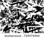 print distress background in... | Shutterstock .eps vector #739474444