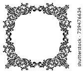 premium vintage baroque frame... | Shutterstock .eps vector #739476634