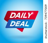 daily deal arrow tag sign. | Shutterstock .eps vector #739477009