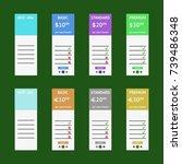 light pricing table. best offer....   Shutterstock .eps vector #739486348