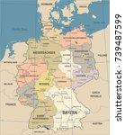 germany map   vintage detailed... | Shutterstock .eps vector #739487599