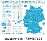 germany map   detailed info... | Shutterstock .eps vector #739487623