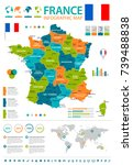 france infographic map and flag ...