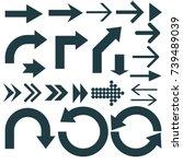 arrow sign collection. cursor... | Shutterstock .eps vector #739489039
