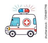ambulance car | Shutterstock .eps vector #739489798