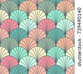 seamless classic geometric... | Shutterstock .eps vector #739490140