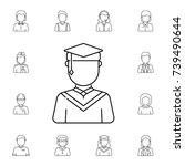 graduate male avatar. set of...   Shutterstock .eps vector #739490644