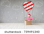 happy child in christmas time.... | Shutterstock . vector #739491340
