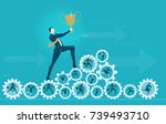 businessmen climbing upon the... | Shutterstock .eps vector #739493710