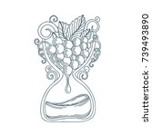hand drawn wine making...   Shutterstock .eps vector #739493890