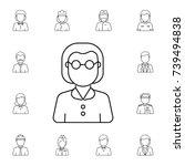 teacher woman avatar. set of... | Shutterstock .eps vector #739494838