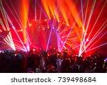 rock concert background  large... | Shutterstock . vector #739498684