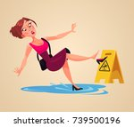 inconsiderate woman character... | Shutterstock .eps vector #739500196