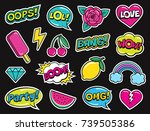 modern colorful patch set on... | Shutterstock .eps vector #739505386