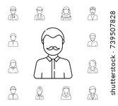 man with mustache avatar. set... | Shutterstock . vector #739507828