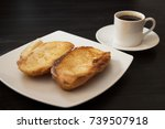 french bread toasted with... | Shutterstock . vector #739507918