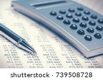 financial accounting. balance... | Shutterstock . vector #739508728
