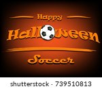 banner happy halloween and... | Shutterstock .eps vector #739510813