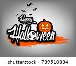banner happy halloween and... | Shutterstock .eps vector #739510834