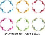 colorful circle border sign | Shutterstock .eps vector #739511638