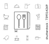 spoon with a fork. set of... | Shutterstock .eps vector #739514269
