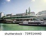 schwedenplatz downtown danube... | Shutterstock . vector #739514440