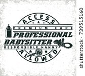 vintage logo graphic design ... | Shutterstock .eps vector #739515160