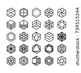 hexagon geometric vector icon   ... | Shutterstock .eps vector #739515244