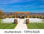 beautiful autumn mountain view | Shutterstock . vector #739515628